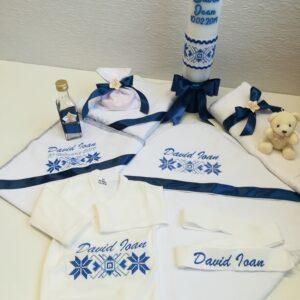 Trusou botez traditional albastru