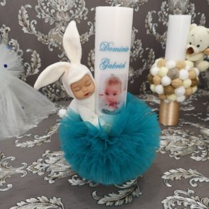 Lumanare botez Iepuras