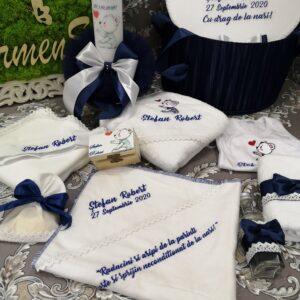 Set botez baiat personalizat ursulet 2